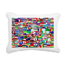 Flag Collage Rectangular Canvas Pillow