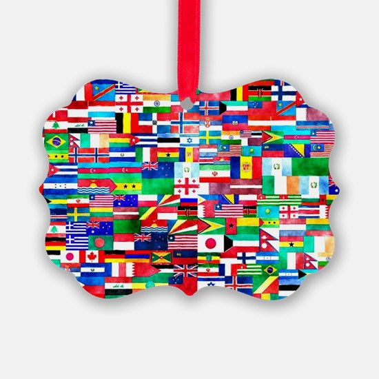 Flag Collage Ornament