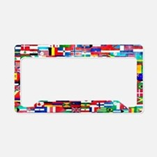 Flag Collage License Plate Holder