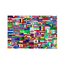 Flag Collage Rectangle Magnet