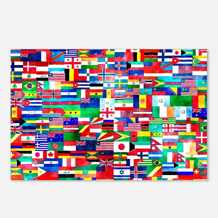 Flag Collage Postcards (Package of 8)