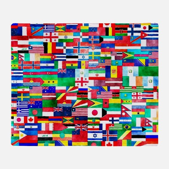 Flag Collage Throw Blanket