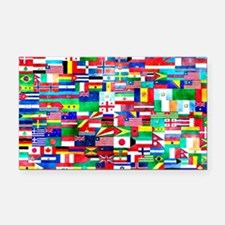 Flag Collage Rectangle Car Magnet