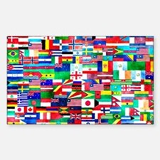 Flag Collage Sticker (Rectangle)