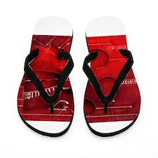 Lumbar Red 1 Flip Flops
