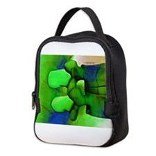 Lumbar Green 1 Neoprene Lunch Bag