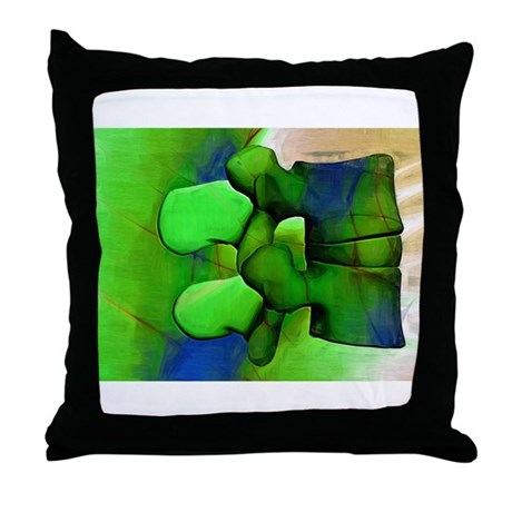 Lumbar Green 1 Throw Pillow by drventura