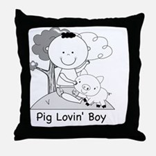 pig lovin boy-001 Throw Pillow