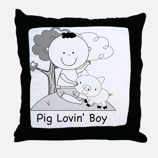 pig lovin boy-001 Throw Pillow