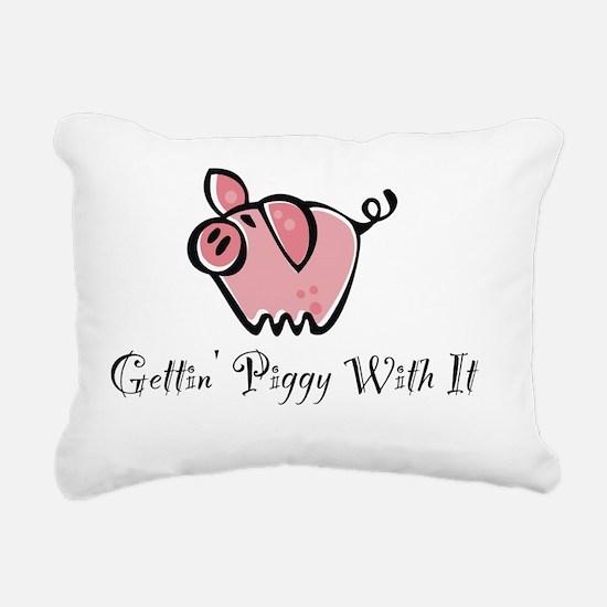 Piggy With It-001 Rectangular Canvas Pillow