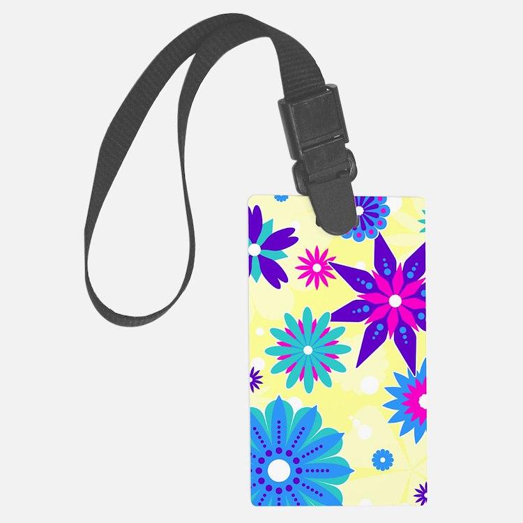 441_flower Luggage Tag