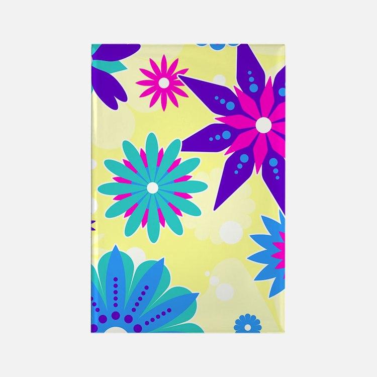 441_flower Rectangle Magnet