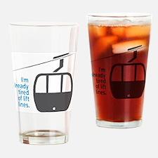 Snowsports_Lift_Lines_Blue Drinking Glass