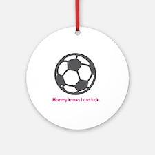 Soccer_Kicks_Pink Round Ornament