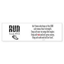 Isaiah 40:31 Run Bumper Car Sticker