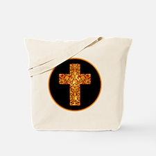 GoldLeafCrossBr Tote Bag