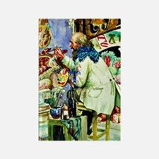 Kustodiev: Painter of Signboards, Rectangle Magnet