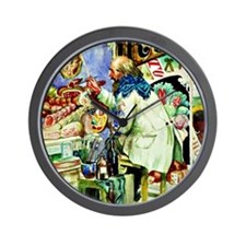 Kustodiev: Painter of Signboards, paint Wall Clock