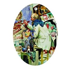 Kustodiev: Painter of Signboards, pa Oval Ornament