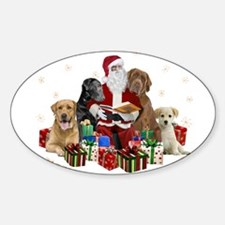 Labs with Santa Naughty or Nice gifts Decal