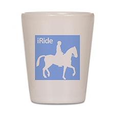 iRide Horses.eps Shot Glass