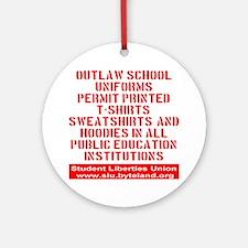 SLU_outlaw_school_uniforms_transpar Round Ornament