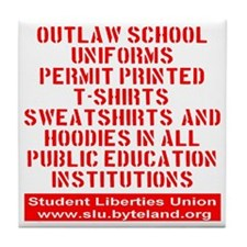 SLU_outlaw_school_uniforms_transparen Tile Coaster
