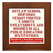 SLU_outlaw_school_uniforms_transparent Framed Tile