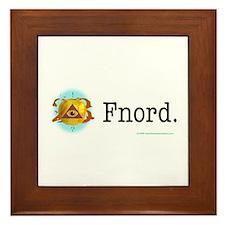 Golden Apple Fnord Framed Tile