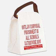 SLU_outlaw_corporal_punishment_tr Canvas Lunch Bag