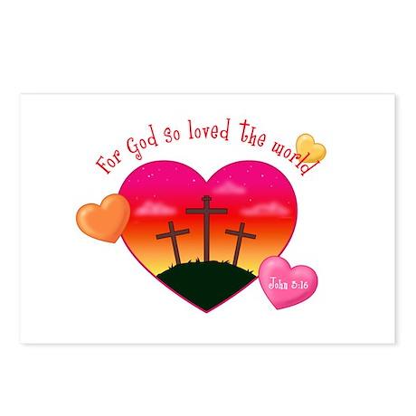 John 3:16 Postcards (Package of 8)