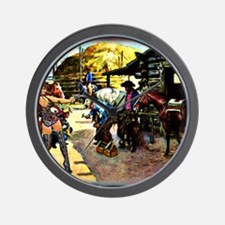 Sexy Cowgirl Cowboys Shoeing Horses 16x Wall Clock