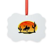 Cowboy Silhouette Ornament