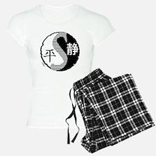 syy-halftone-blk-trans Pajamas