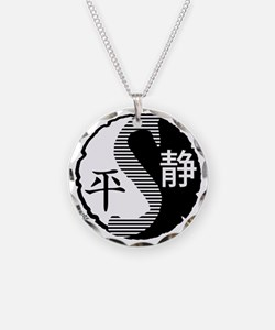 syy-halftone-blk-trans Necklace