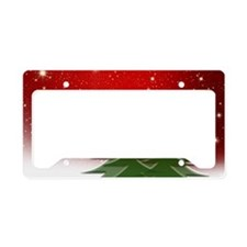 Christmas Trees with Stars License Plate Holder