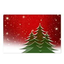 Christmas Trees with Star Postcards (Package of 8)