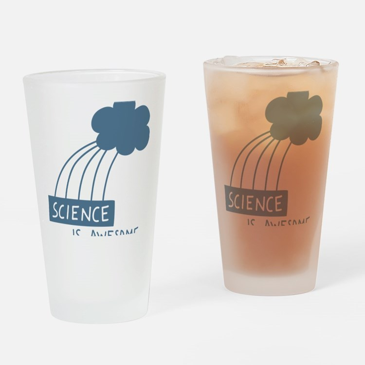 ScienceIsAwesome_dark Drinking Glass