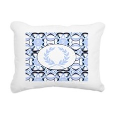 graphic design blue  WRE Rectangular Canvas Pillow
