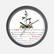 12days-white Wall Clock