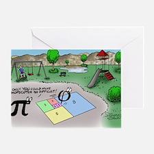 Pi_65 Fibonacci Hopscotch (11.5x9 Co Greeting Card