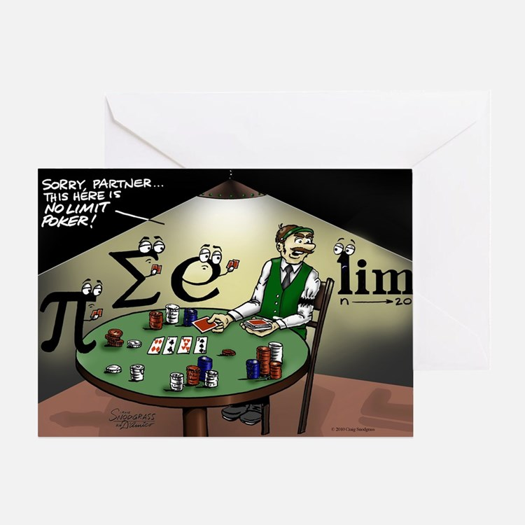 Pi_47 No Limit Poker (6.55x4.5 Color Greeting Card