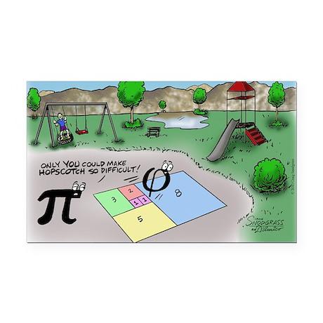 Pi_65 Fibonacci Hopscotch (7. Rectangle Car Magnet