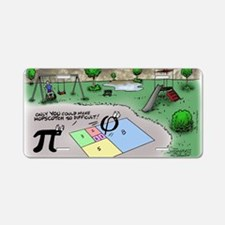 Pi_65 Fibonacci Hopscotch ( Aluminum License Plate