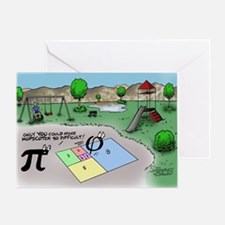 Pi_65 Fibonacci Hopscotch (10x10 Col Greeting Card