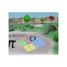 Pi_65 Fibonacci Hopscotch (10x10 Col Throw Blanket