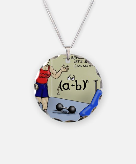 Pi_56 Math Stretches (7.5x4. Necklace Circle Charm