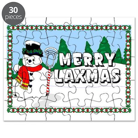 Lacrosse_MerryLaxmas_Snowman Puzzle