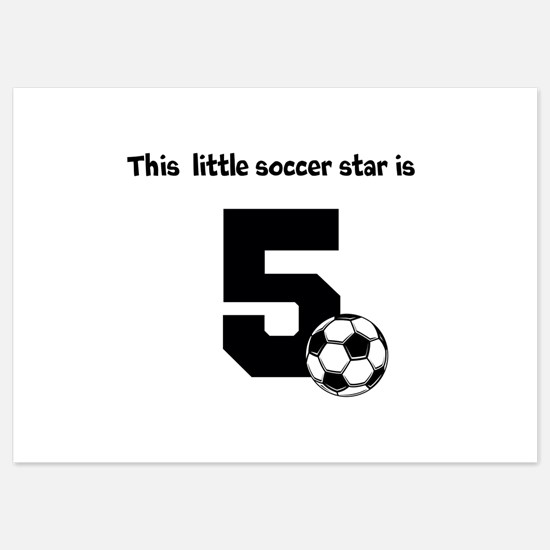 Little Soccer Star Custom Age Invitations