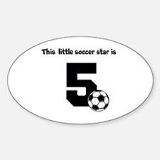 Little Soccer Star Custom Age Decal
